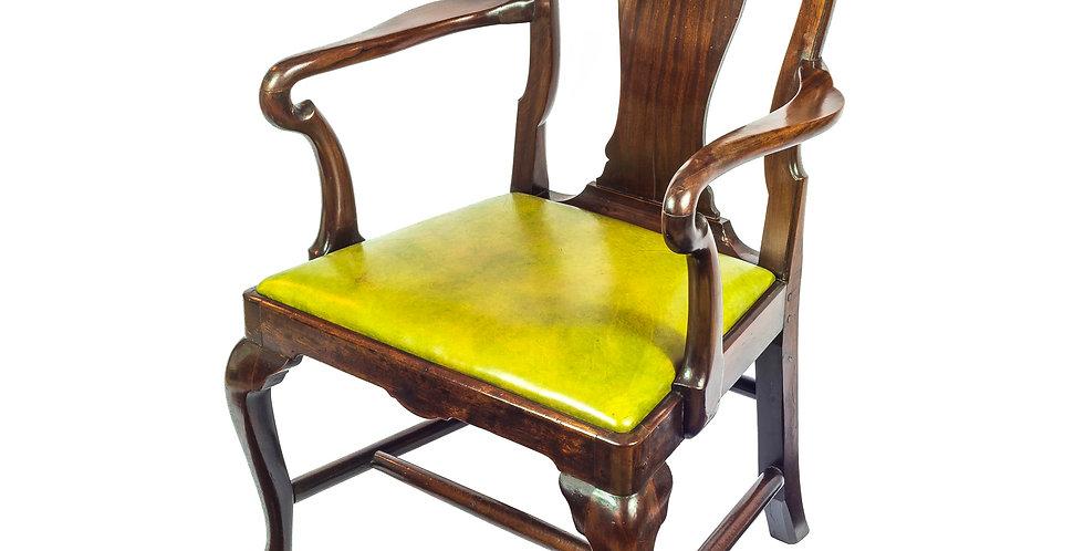 Superb George II Cuban Mahogany Open Armchair