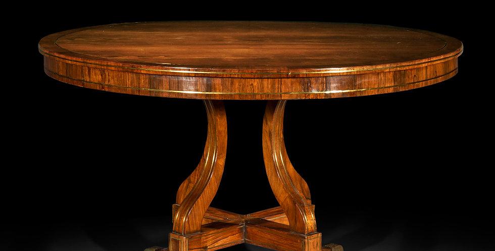 Fine Regency Brass Inalid Centre Table