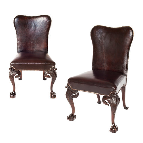 Fine Pair of George II Style Mahogany Side Chairs