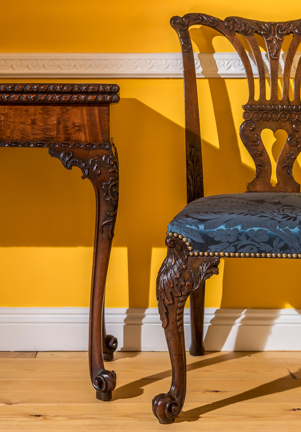 A George II chair, in the French manner, attributed to the St Martin's Lane Syndicate. Peacocks Finest