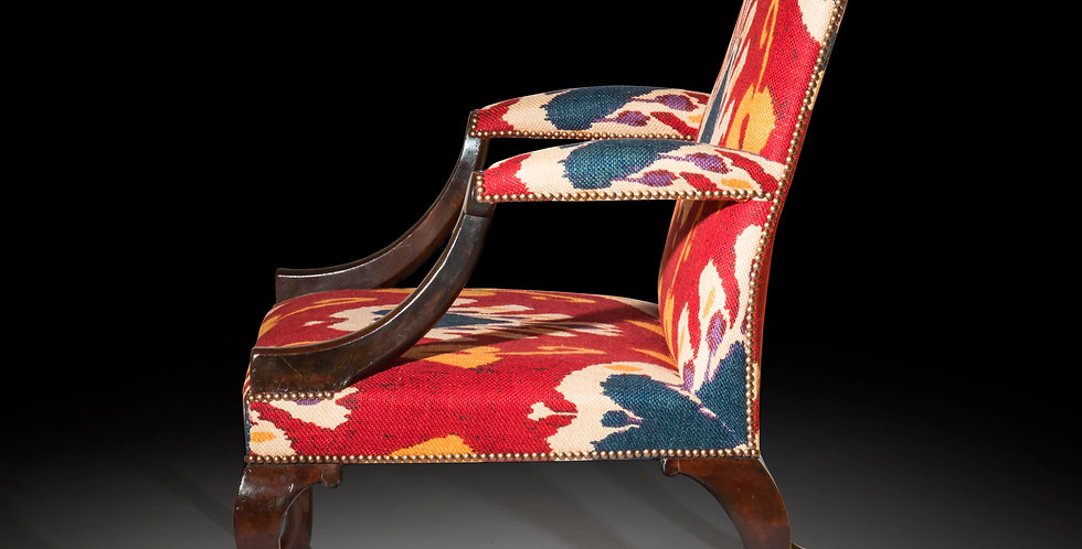 Antique Gainsborough Armchair in Walnut the manner of Giles Grendey