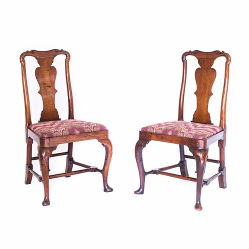 Fine Pair of George I Walnut Chairs