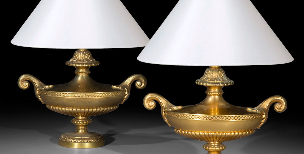 Pair of Antique Regency Style Table Lamps