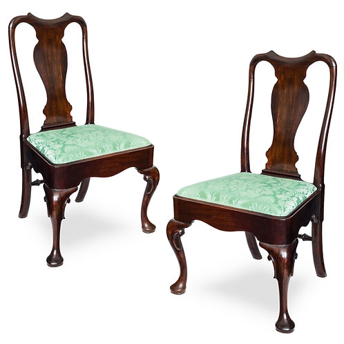 Pair of Irish George II Mahogany Chairs