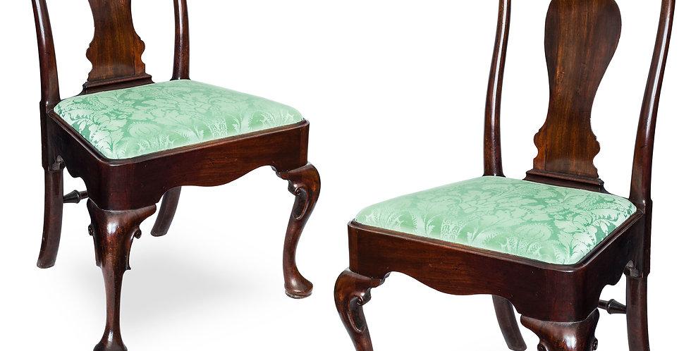 Pair of Irish George II Mahogany Chairs