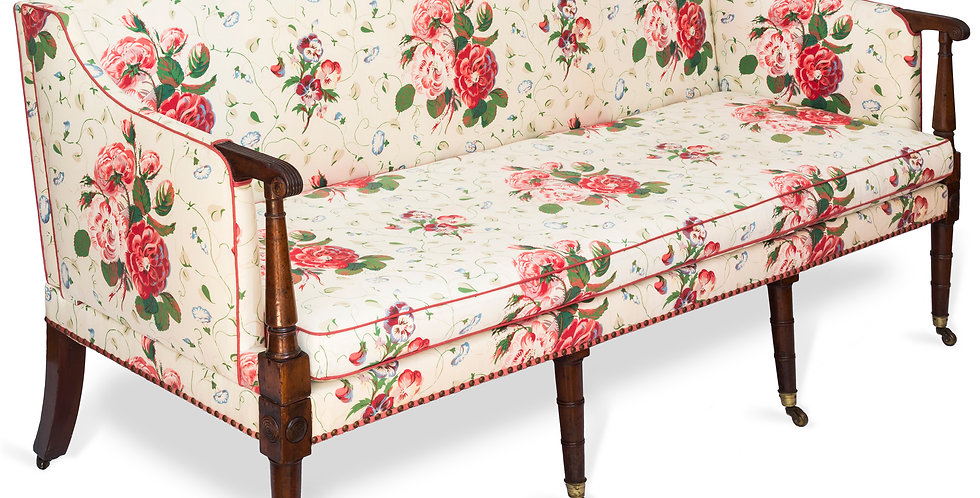George III Three Seater Mahogany Sofa Settee