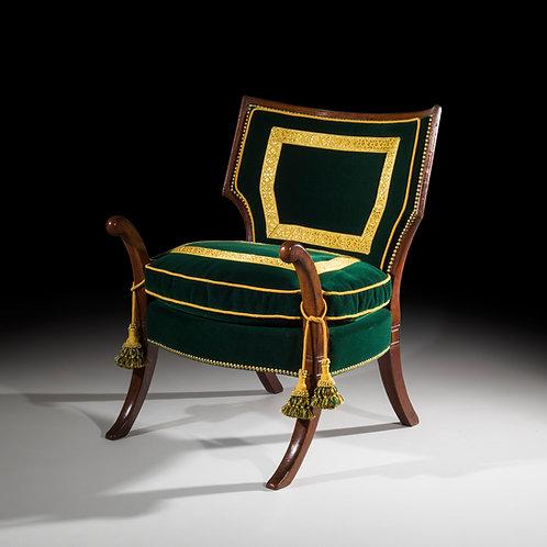 Antique Klismos Armchair After Thomas Hope Designs