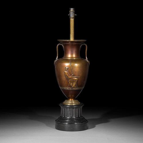 Grand Tour Bronze Vase Table Lamp