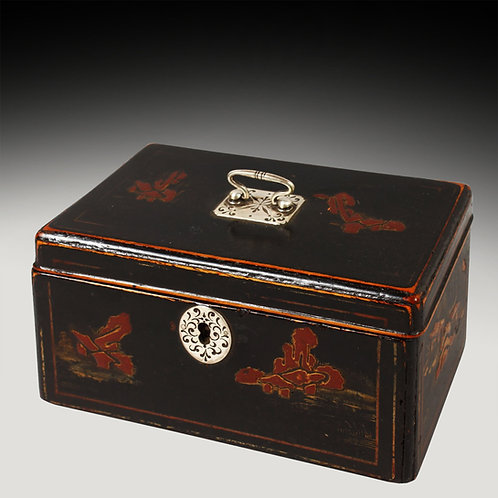 George III Chinoiserie Tea Caddy