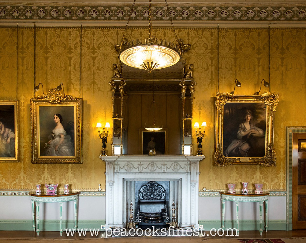 Harewood House, The Yellow Drawing Room. The overmantle mirror is by Chippendale's son