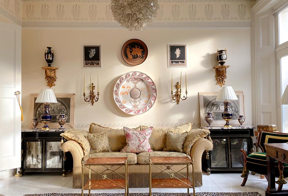 Neoclassical antiques in interior decoration