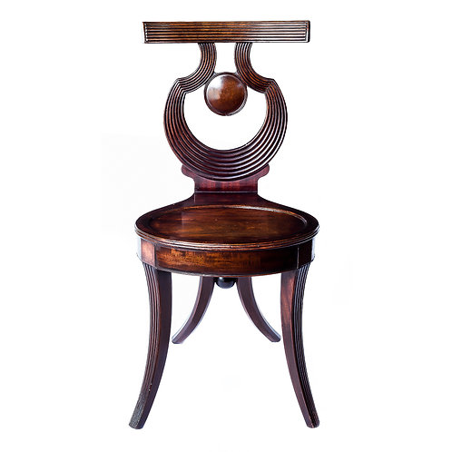 Fine George III Mahogany Hall Chair, in the Gillows Style