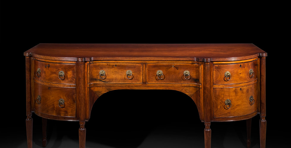 Antique Sideboard in Padouk of Colonial or Anglo-Indian Origin