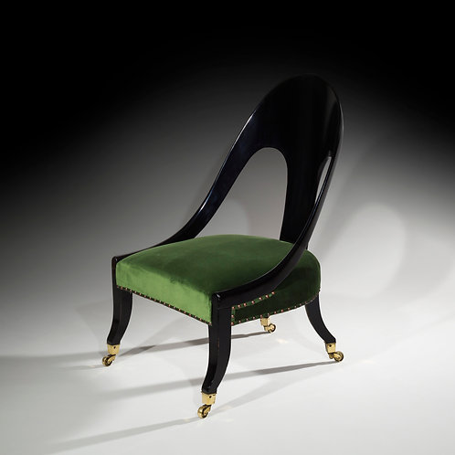 Regency Ebonised Klismos Slipper Chair