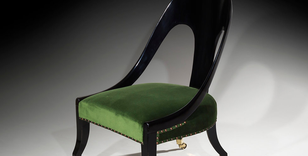 Regency Ebonised Klismos Slipper Chair