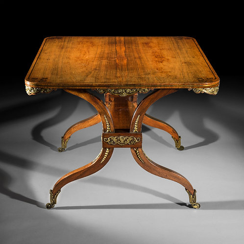 Regency Ormolu Mounted Library Table, attributed to George Oakley