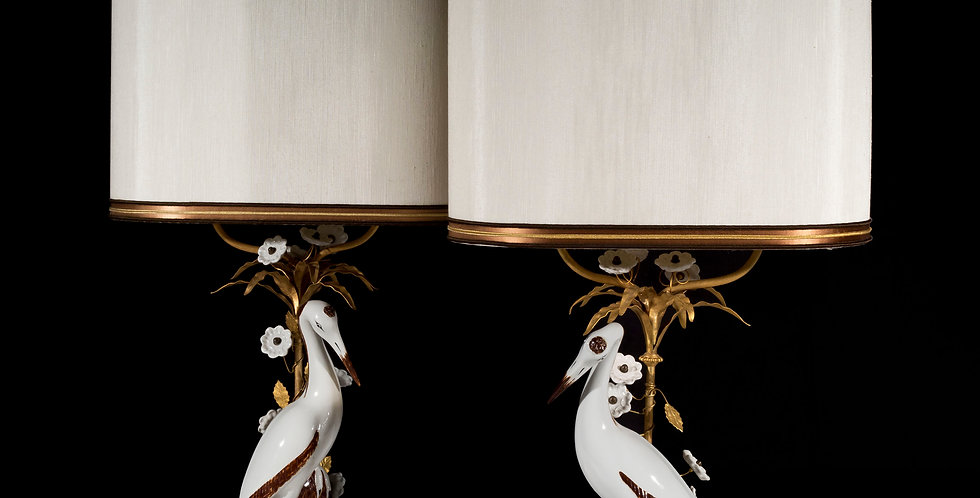 Vintage Pair of Chinoiserie Lamps by Mangani