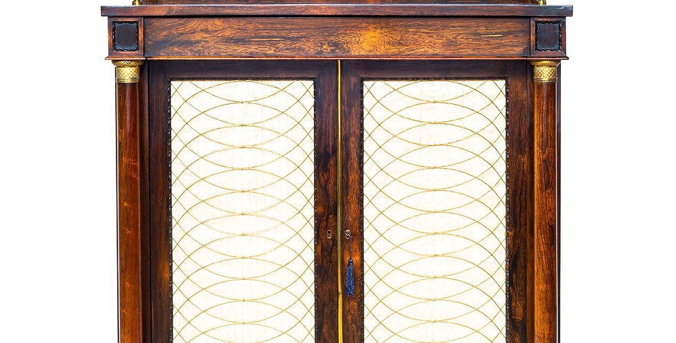 Fine Regency Rosewood Bookcase, in the Manner of Gillows