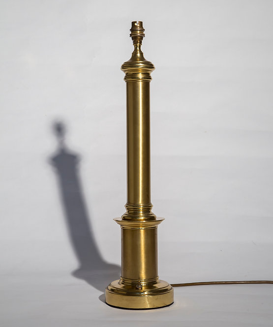 Large Classical Column Brass Table Lamp