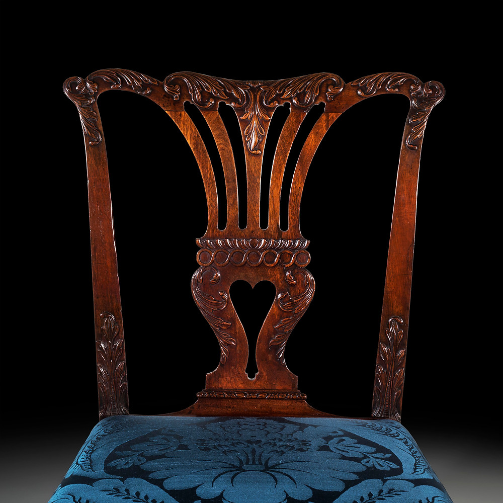 A George II chair, in the French manner, attributed to the St Martin's Lane Syndicate. A detail of the back