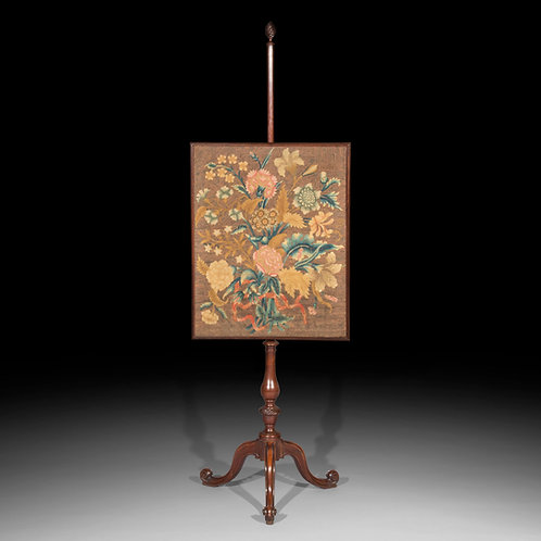 Fine Chippendale Needlework Screen