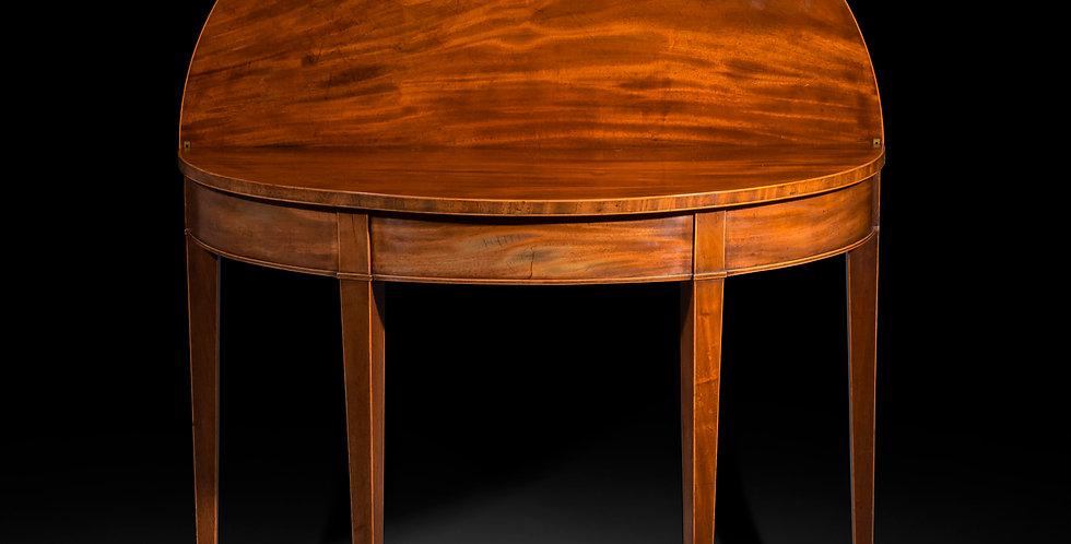 George III Demilune Table