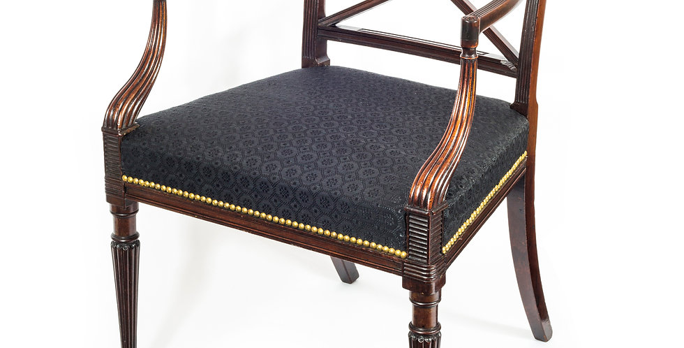 Fine George III Mahogany Armchair, Attributed to Gillows