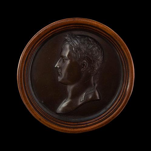 Emperor Napoleon Bonaparte, Early 19th Century 'Bronze' Relief Medallion