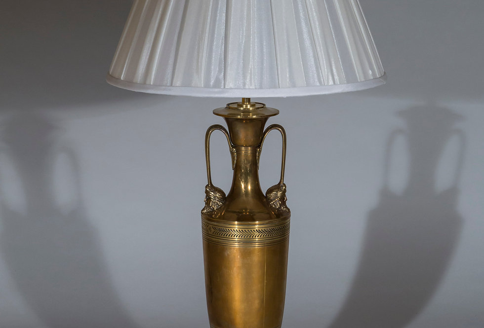 Antique Brass Table Lamp of Neoclassical Style