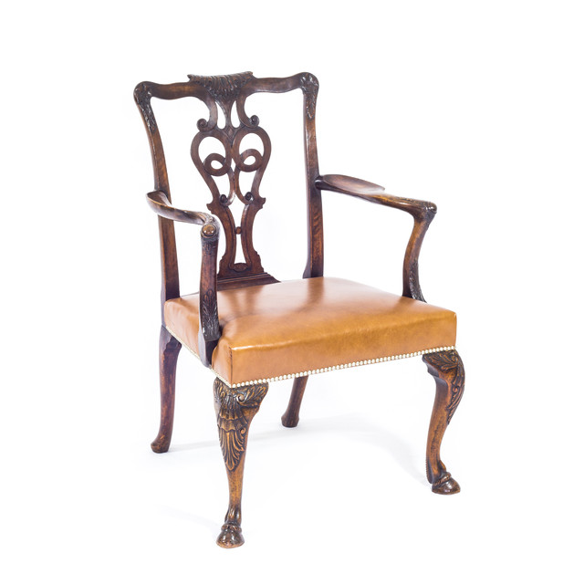 A Set of George II Style Walnut Chairs