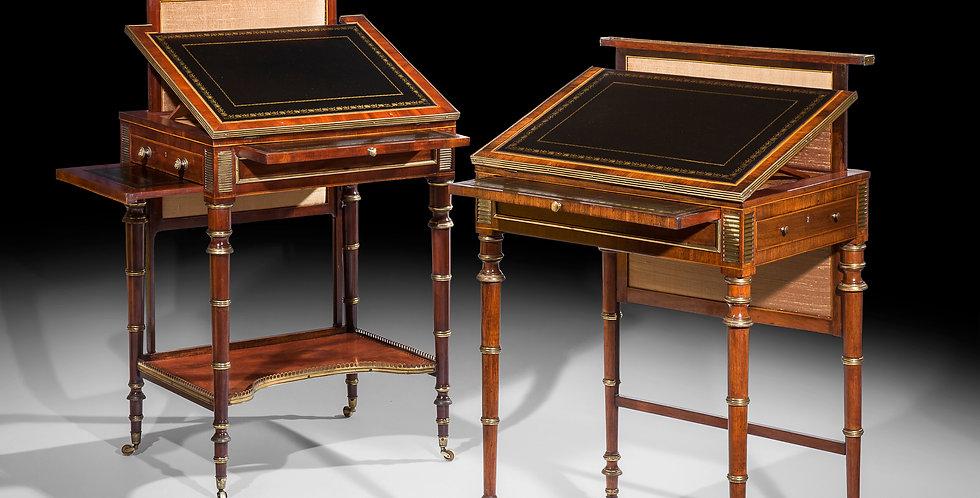 Near Pair of Regency Writing Tables attributed to John McLean