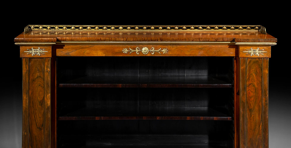 Fine Regency Ormolu Mounted Open Bookcase