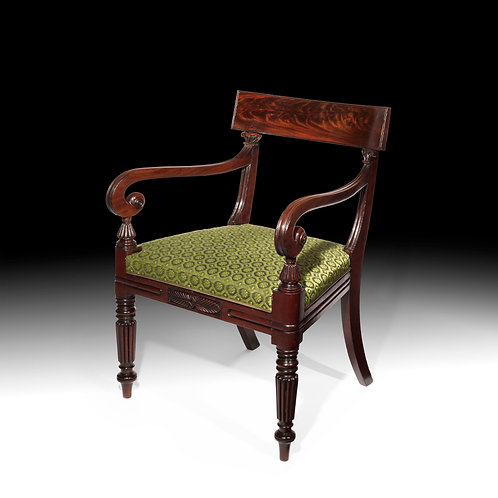 Antique Desk Chair or Regency Period in Mahogany