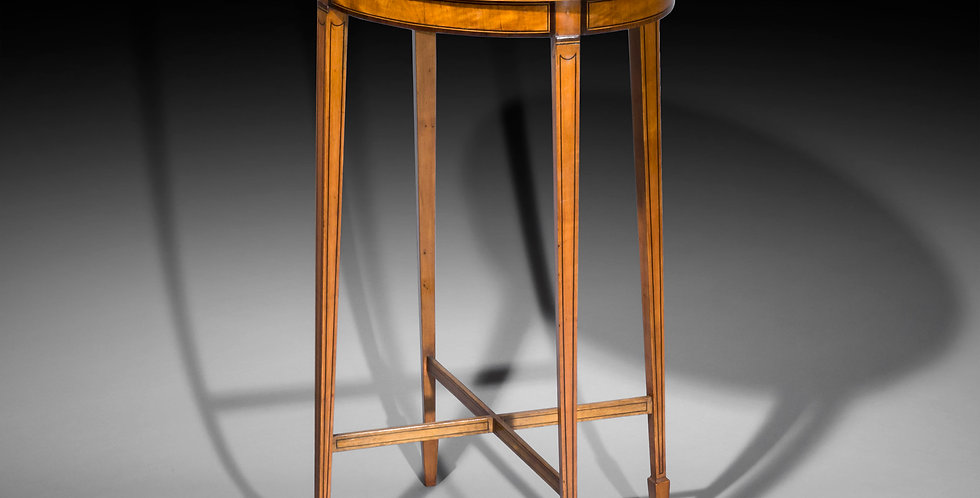 Fine Sheraton Style Satinwood Oval Table
