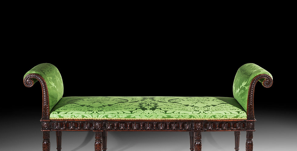 Fine Adam Neoclassical Style Mahogany Stool
