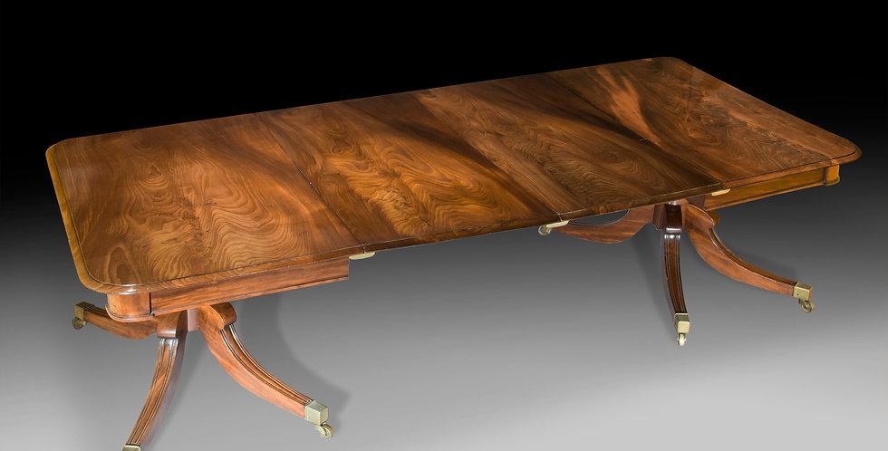 Fine Regency Two Pedestal Dining Table