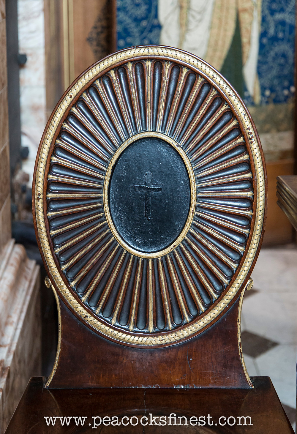 Ince and Mayhew style hall chair, the Chapel at Castle Howard