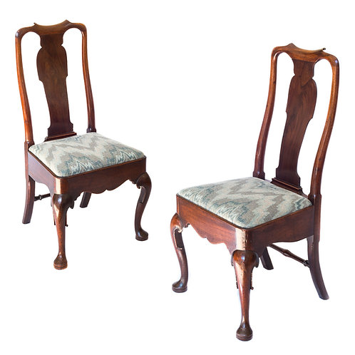 Fine Pair of George II Mahogany Chairs