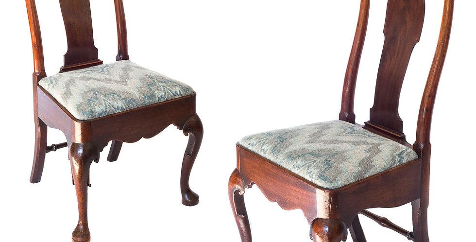 Fine Pair of George II Mahogany Chairs