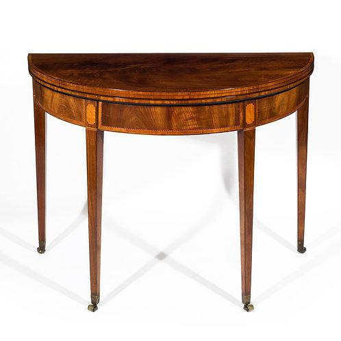 George III Figured Mahogany Tea Table