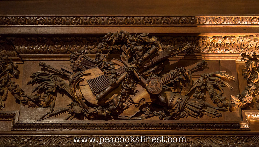 Chatsworth House, carving detail, attributed to Samuel Watson