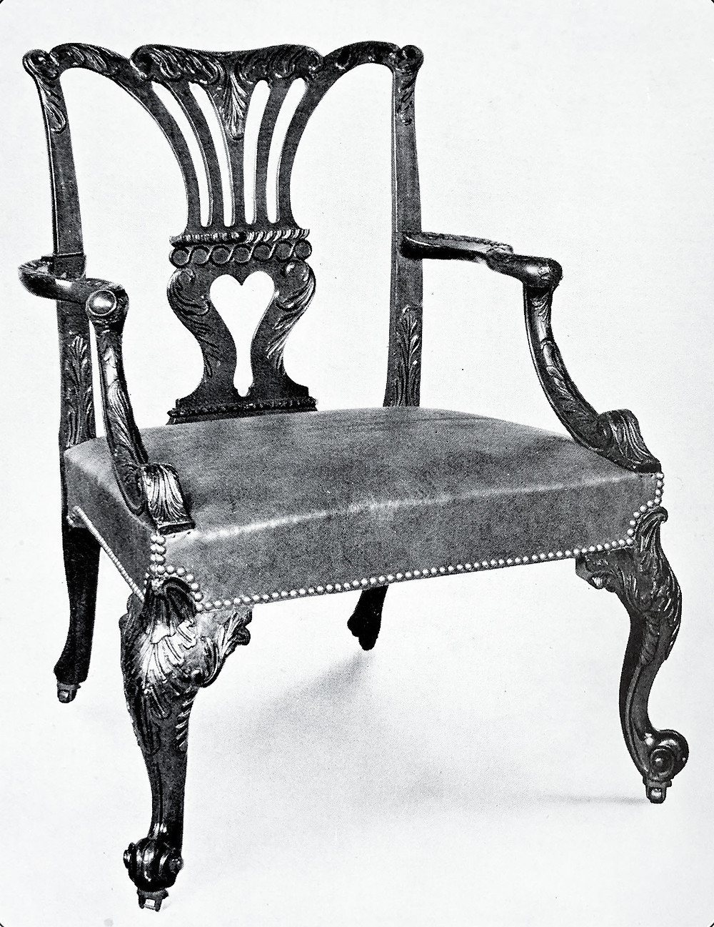 George II Chippendale Armchair, M.Harris and Sons