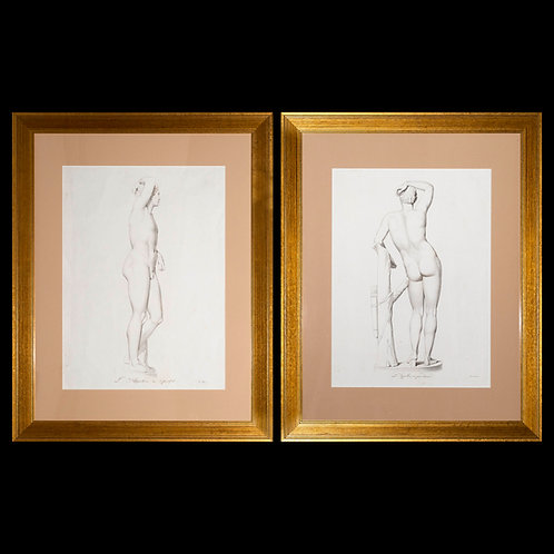 Pair of Large Engravings of Apollo