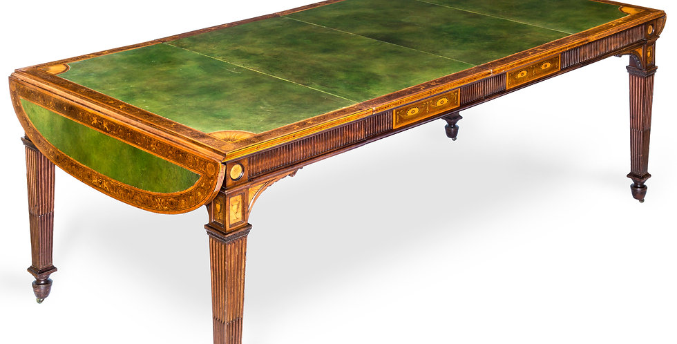 Exceptional Neoclassical Library Table by Howard & Sons