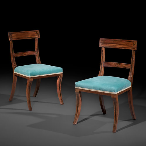 Six Antique Dining Chairs in Mahogany or Regency Period, Attributed to Gillows