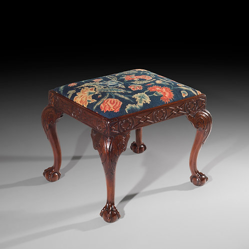 Antique Georgian Needlework Stool in Walnut