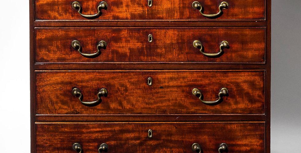 George III Figured Mahogany Chest of Drawers