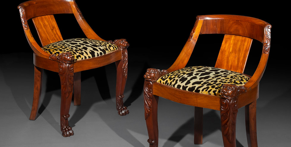 Pair of 19th Century Lions Head Chairs