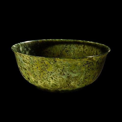 Massive Chinese Spinach Green Jade Bowl