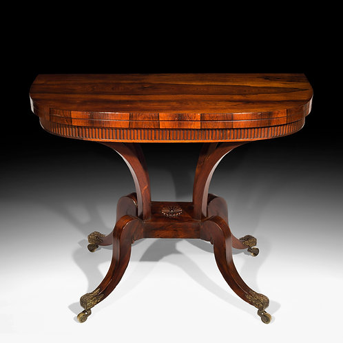 Regency Rosewood Card Table, attributed to William Trotter